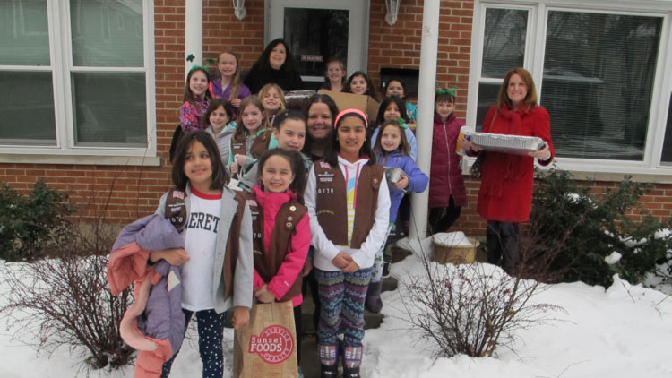 Lake Forest Girl Scouts visit Lake County Haven