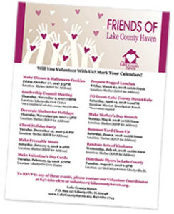 Friends of Lake County Haven events