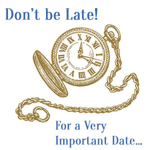 Don't be late...